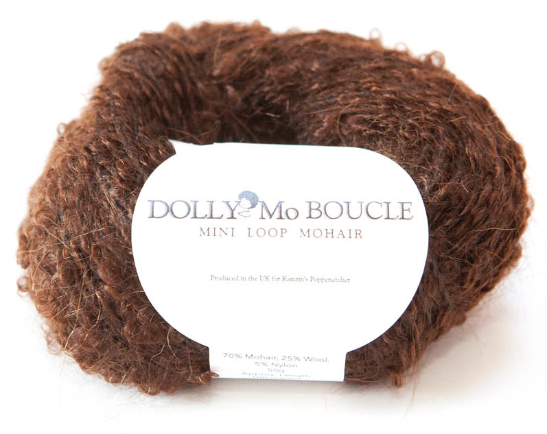 "DollyMo Mini mohair bouclé  ""Dark Brown"" nr. 8006"