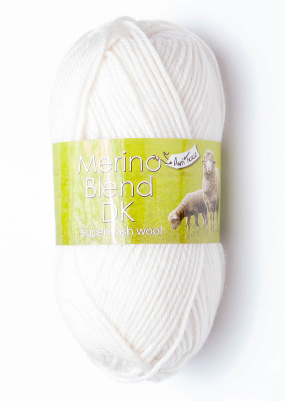"King Cole Merino Blend DK ""White"" 50 gram New!"