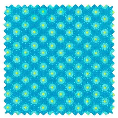 Coton imprimé Bubble bleu Aruba