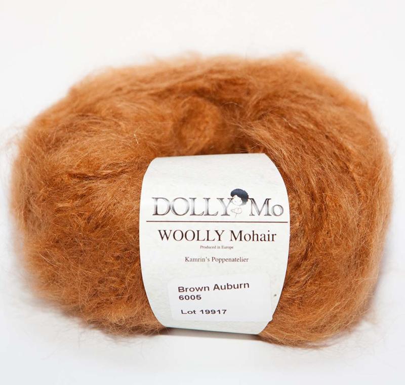 """DollyMo """"Woolly"""" Mohair 6005  Brown Auburn"""