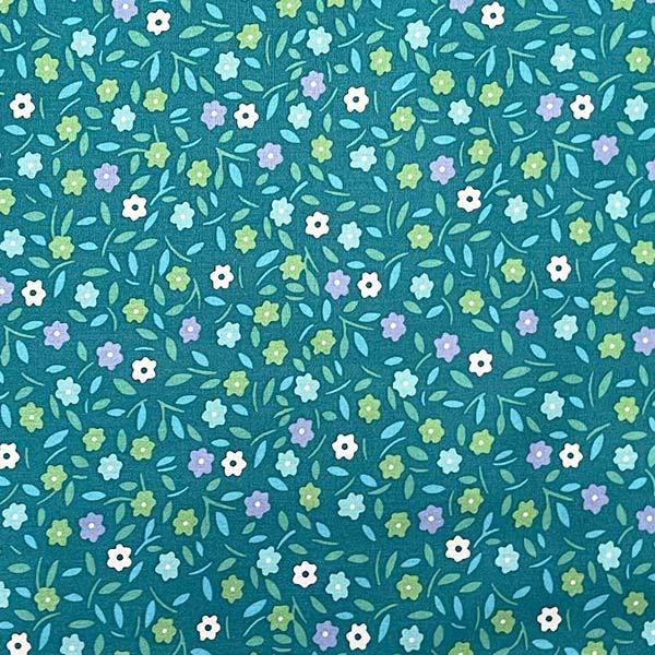 Coton enduit Peace and Love vert