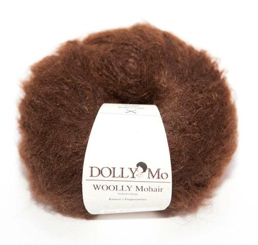 "DollyMo ""Woolly"" Mohair 6008  Dark Brown"