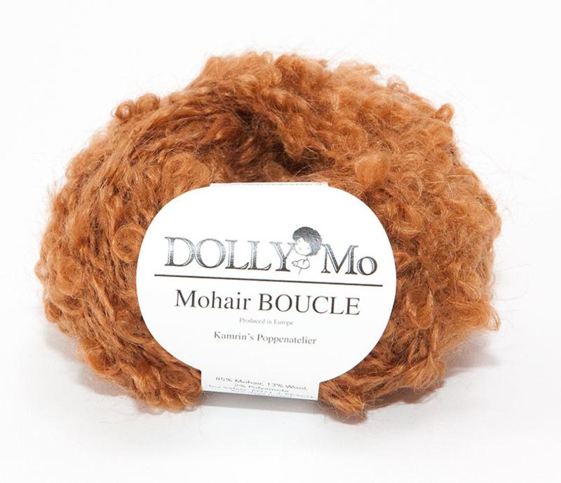 """DollyMo Mohair Bouclé """"Brown Auburn"""" nr. 7009"""