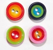 Knopen Kleurrijke Cirkels 10 mm