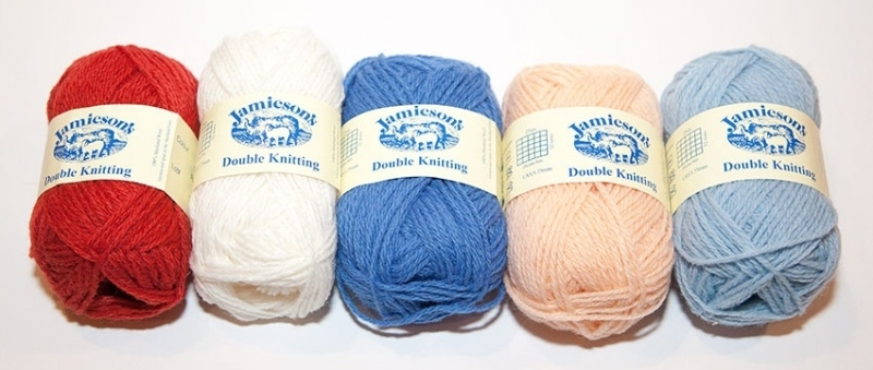 "Jamieson's DK Yarn for Knitted Doll ""Molly"" by Mary Jane's Tearoom"