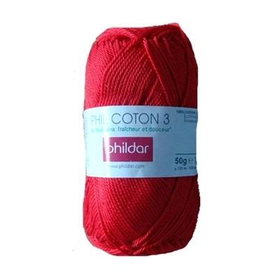 Phildar Coton 3 Cerise