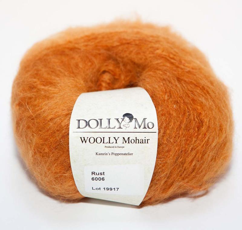 "DollyMo ""Woolly""  Mohair 6006  Rust"