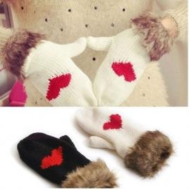Handschoenen met hartje - Wit of Zwart