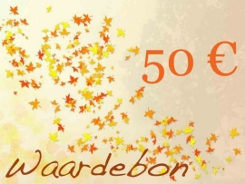 Kadobon t.w.v. 50 euro