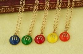 M&M`s ketting Geel of blauw