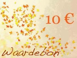 Kadobon t.w.v. 10 euro