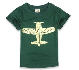 T-shirt vliegtuig: maat 110 en 130