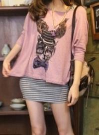 Twinset: Gestreepte topje en blouse