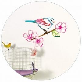 muursticker vogel op tak