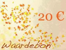 Kadobon t.w.v. 20 euro
