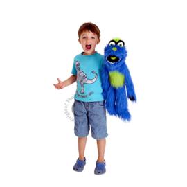 Blauw monster Handpop