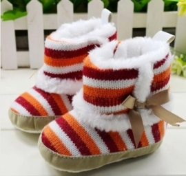 rainbow color striped boots