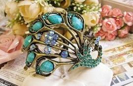 Pauwenarmband Blauw
