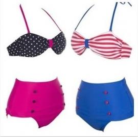 High waist Bikini met een vleugje Amerikaanse nostalgie