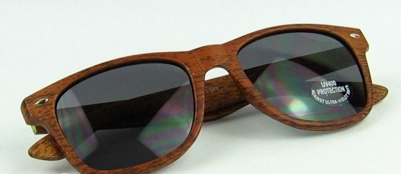Bamboo look  zonnebril incl stijlvolle brillendoos