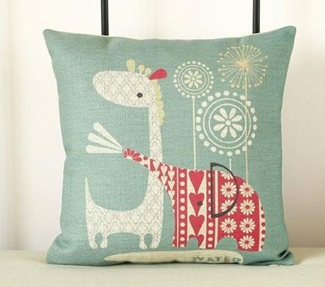 Kussensloop: Olifant & Giraf