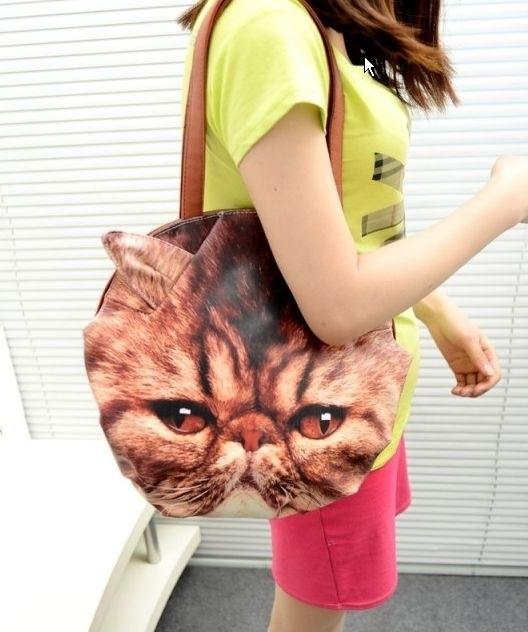 Grumpy cat schoudertas