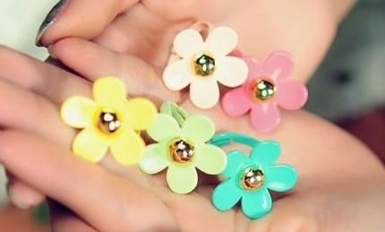 Kleurrijke bloemenring