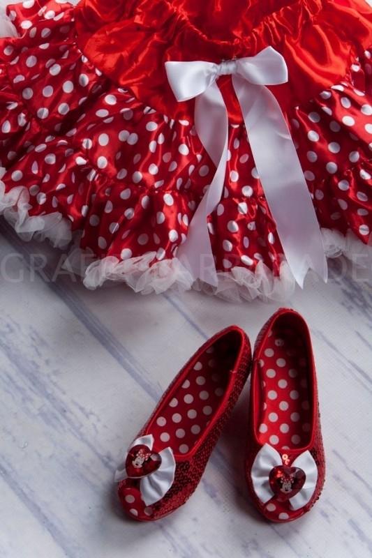 Pettiskirt Rood met witte stippen