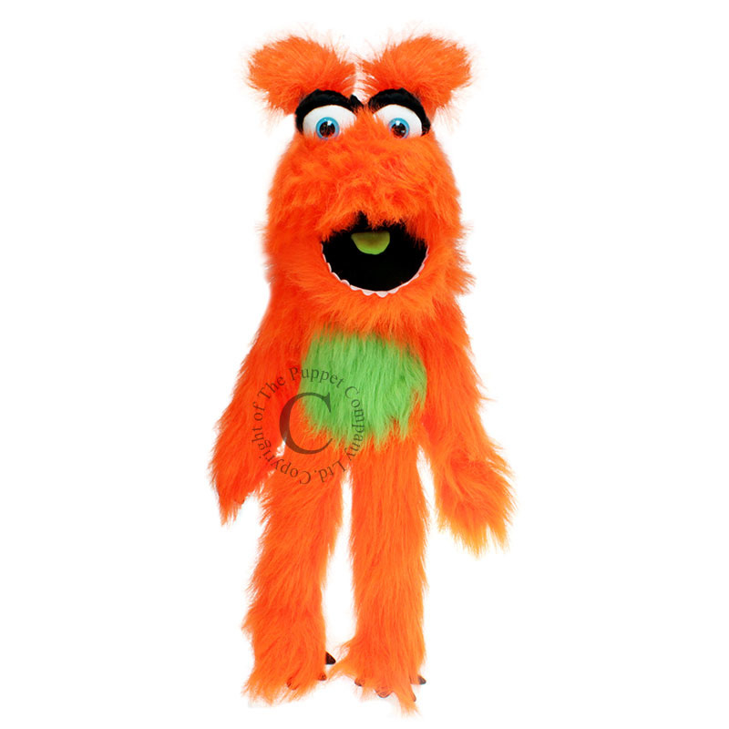 Oranje monster Handpop