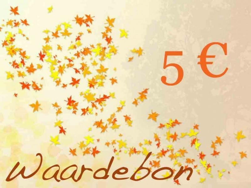 Kadobon t.w.v. 5 euro