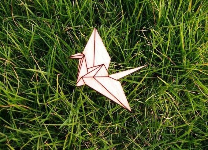 Broche Origami