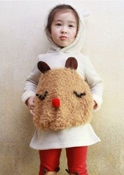Trui en legging met schattige beer! Kleur: GRIJS 110 130 140
