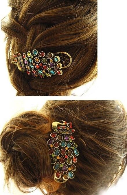 Haarspeld pauw