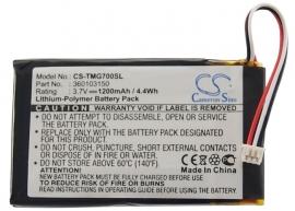 Accu Batterij voor TomTom Go 7000 Go 7000 HD - 1200mAh