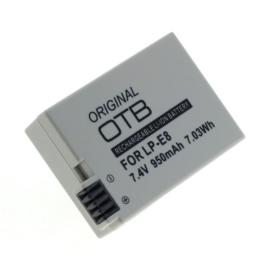 Original OTB Accu Batterij Canon LP-E8 - 950mAh