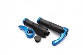 2x Handvat Kinderfiets met Staander 133 x 23 mm - Zwart/Blauw