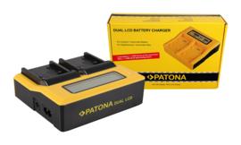 Patona USB Duolader met Display NP-FP50 NP-FH50 NP-FV50 e.a