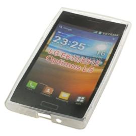 TPU Telefoonhoesje LG E610 / LG E612 / LG Optimus L5  - Transparant