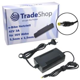 E-Bike Oplader voor 36V Accu -  42V 3A - 5.5x2.5mm stift