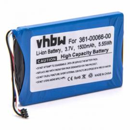 VHBW Accu Batterij Garmin 361-00066-00 -  1500mAh
