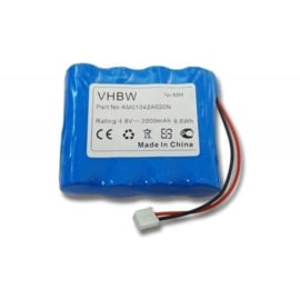 VHBW Accu Batterij Philips NA150D04C051 - 2000mAh 4.8V