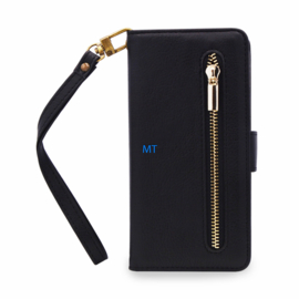 Zip Slim Fit Book Case Telefoontasje Galaxy A80 SM-A805F..- Zwart