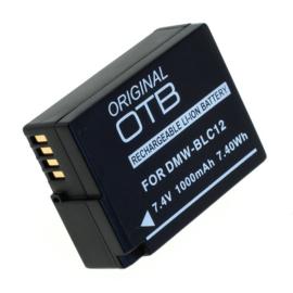 Original OTB Accu Batterij Panasonic DMW-BLC12E e.a. - 1000mAh