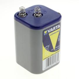 Varta 6V Longlife 430 Blokbatterij - Zinkchloride 7.5 Ah