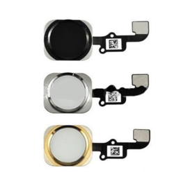 Home Button incl. Flexkabel voor Apple IPhone 6 / 6G - Zwart