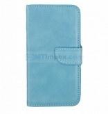 Bookstyle Case hoesje Sony Xperia E4 - Aqua Blauw