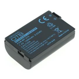 OTB Accu Batterij Canon BP-308 BP-310 BP-315 - 1300mAh