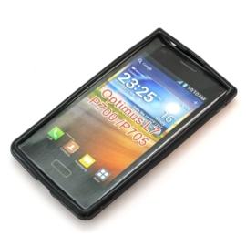 TPU Case Hoes Tasje voor LG Optimus L7 P700 P705 Zwart OP=OP
