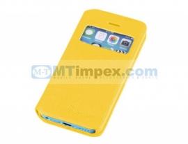 Aavy Window Venster Book Case Samsung Galaxy S4 GT-i9500 - Geel