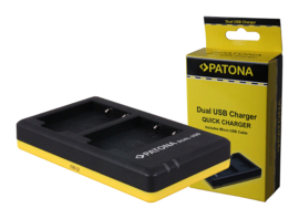 Patona USB Dual Quick Charger Accu Fuji NP-W126 NP-W126S